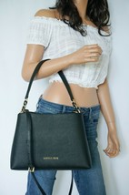Nwt Michael Kors Sofia Portia Large Satchel Saffiano Leather Crossbody Bag Black - $88.10