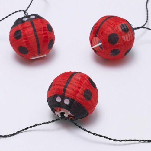 IKEA SOLVINDEN Ladybug LED String Lights Battery Operated Outdoor New image 6