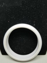 White Lucite Vintage Bangle Thick Bracelet - $15.29