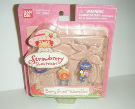 BanDai Strawberry Shortcake Ginger Snap Choco Chipmunk Keychain Berry Wearables - $14.85