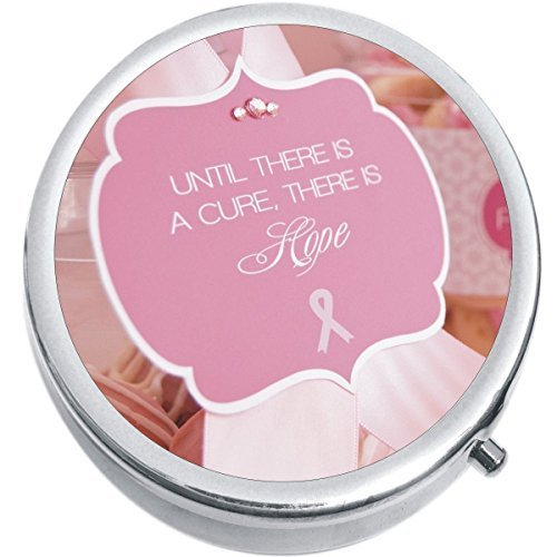 Hope Pink Ribbon Breast Cancer Medicine Vitamin Compact Pill Box - $9.78