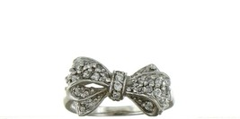 Ladies Size 7.5 Sterling Silver CZ Fashion Bow Ring No. 2118