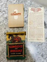 Vintage Cowboys and Indians Card Game 1949 Ed-U-Cards with Box Instructions - $14.84