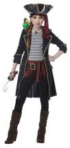 High Seas Captain Halloween Costume Girl Child S 6-8 Black - $60.99