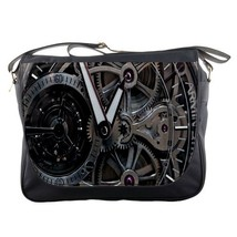Messenger Bag Steampunk Gears Elegant Cute Grey Machine Design Game Anime Fantas - $30.00