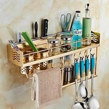 Aluminium Rack Kitchen Storage Cabinet Pantry Organizers Wall Mounted Cl... - £87.17 GBP