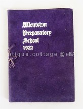 1922 antique ALLENTOWN PREPARATORY SCHOO pa COMMENCEMENT leather biery k... - $47.50