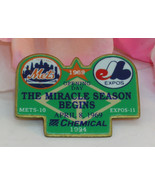 New NY Mets Expos Pin Chemical Bank Opening Day 1969 The Miracle Season ... - $10.99