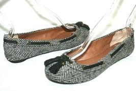 ❤️ LUCKY BRAND Edison Studded Leather Tassel Herringbone Tweed Flats 7 M... - $18.04