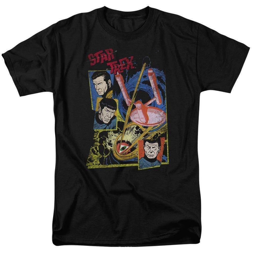 Star Trek t-shirt original cast series anime sci-fi graphic tee CBS1158