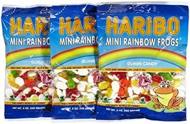 Haribo Gummies-Mini Rainbow Frogs-5 Oz-3 Count - $18.46
