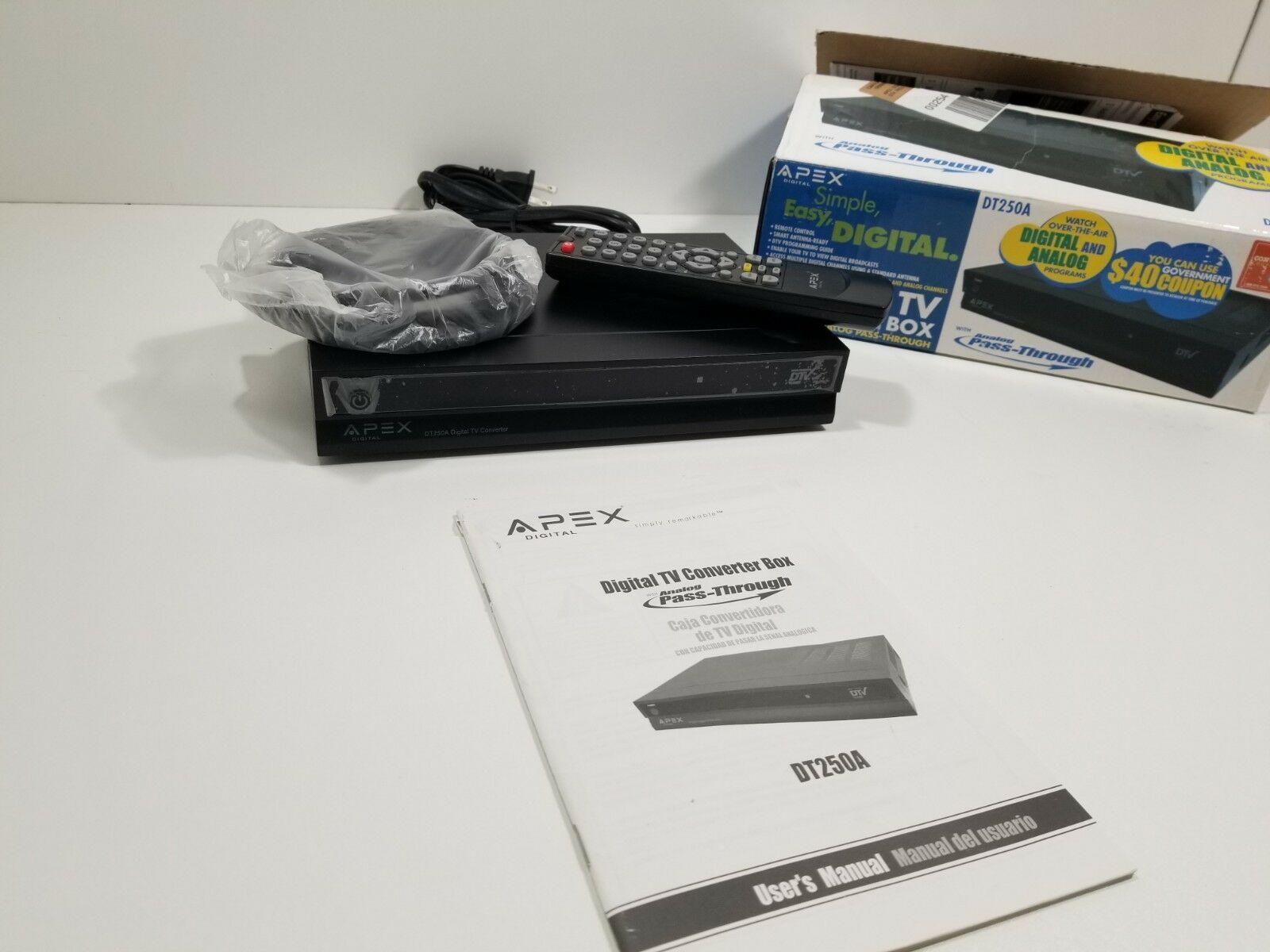 APEX DT250A Digital TV converter box
