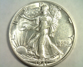 1941-D WALKING LIBERTY HALF ABOUT UNCIRCULATED+ AU+ NICE ORIGINAL COIN B... - $24.00