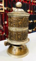 2 Line Om Mani Peme Hum Handmade Tibetan Prayer Wheel-BC4 - $123.75