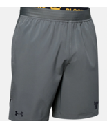 Under Armour Mens Project Rock Shorts 1346070-012 Pitch   Gray / Black NWT - $42.45