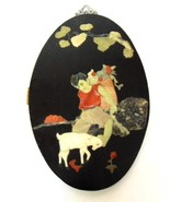Antique Chinese Soapstone Inlay Art Plaque Boy w/ Goat - $150.00
