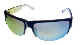 Fila Mens Black Plastic Rectangle Rimless Wrap Sunglass, Flash Lens SF93... - $22.49