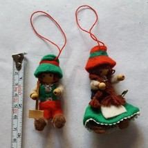 VINTAGE BOY & GIRL CHRISTMAS Xmas tree holiday season ORNAMENTS pre-owned - $14.84