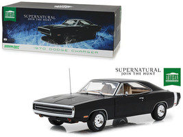 """1970 Dodge Charger Black """"Supernatural"""" TV Series 1/18 Diecast by Greenl... - $79.95"""