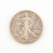 1938-D 50¢ Walking Liberty Half Dollar, XF Condition, Medium Gray Color, Detail - $146.91