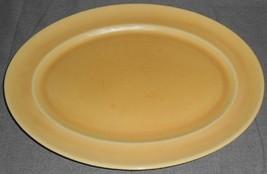 Set (2) Homer Laughlin Wells Art Glaze Yellow/Peach Oval Platters - $39.59