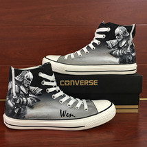 Men Casual Shoes Design General Knight Hand Painted Converse Canvas Sneakers - $159.00