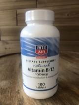 Rite Aid Natural Vitamin B-12, 1000 mcg, 100 Tablets EXP 6/23 - $9.04