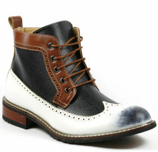 Ferro Aldo Men's Lace up Wing Tip Dress Ankle Boot w/ Leather Lining MFA... - €18,43 EUR