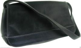Kenneth Cole Black Pebble Grain Leather Should Bag Purse - $17.96