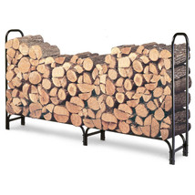 8 Foot Rack Wood Storage Organizer Log Holder Garden Fireplace Outdoor B... - $56.74