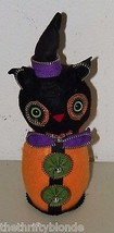 Halloween CAT ZIPPER Fabric Figurine Witch 16200 Felt - £9.55 GBP