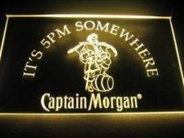 "Neon Light Signs CAPTAIN MORGAN 15.5"" X 12"" Beer Pub Bar  - $22.99"