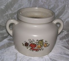 Vintage McCoy SPICE DELIGHT Bean Pot # 341 - No Lid- Vegetable Pattern-GUC - $6.45