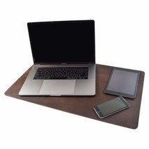 Durable Thick Leather Desk Pad / Executive Blotter / Protective Mat for ... - $139.55