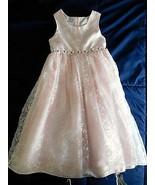DRESS Girls PERFECTLY DRESSED Pink Floral Rosette Dressy Flower Girl Sz ... - $29.99