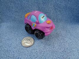 Tonka Hasbro 2008 Chuck & Friends Purple Soft Car Black Hard Plastic Wheels - $1.56
