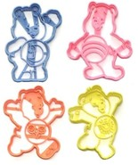 Care Bears Bedtime Cheer Friend Funshine Set of 4 Cookie Cutters USA PR1573 - $10.99