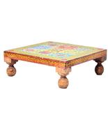 Multi Color Bajot Chowki Chaurang Patli Pooja Small Table Stool for Dail... - $42.95