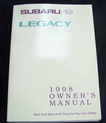 1998 subaru legacy owners manual new original