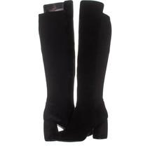Nine West Kerianna Knee High Pull-On Boots 806, Black/Black Suede, 7 US - £45.22 GBP