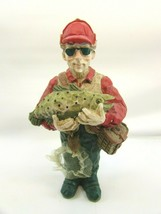 Vintage Fisherman Christmas Ornament Fishing Holiday Outdoors 33030 - $23.75