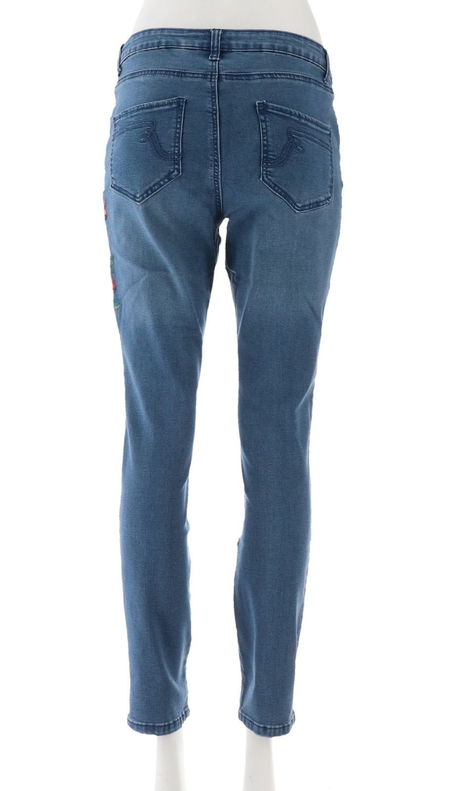 Women with Control My Wonder Denim Novelty Jeans Mid Blue 14 NEW A309509 image 3