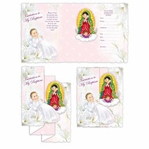 DPW Baptism Bautizo Christening Party Invitations Spanish Invitaciones V... - $12.13