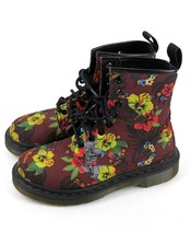 Dr Martens Castel Boots Cherry Hawaiian Floral Skulls Canvas Women's UK ... - $69.95
