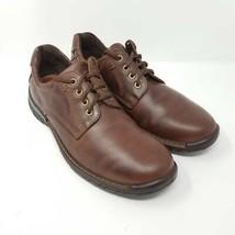 Ecco Mens Oxfords Shoes Brown Lace Up Breathable 9-9.5 EUR 43 - $35.99