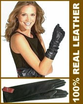 "40cm(15.7 "") Damen (100% Echtes Leder)Long Opera Gloves/Abend/Party Hand... - $30.96+"