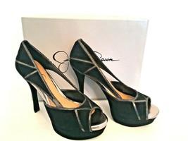 8M (EUR 38) Jessica Simpson Black Rachelle Platform Open Toe Shoe NIB Me... - $45.82