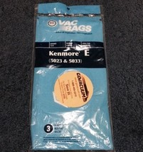 KENMORE TYPE E(5023-5033)--3 BAGS IN A PACK VACUUM CLEANER BAGS - $4.84