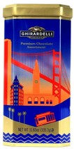 Ghirardelli 11.83 Oz Premium Chocolate Assortment San Francisco Landmarks Tin  - $30.99