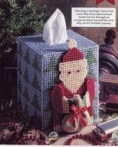 Folksy Santa Tissue Topper Plastic Canvas Pattern/Instructions Leaflet NEW - $0.90